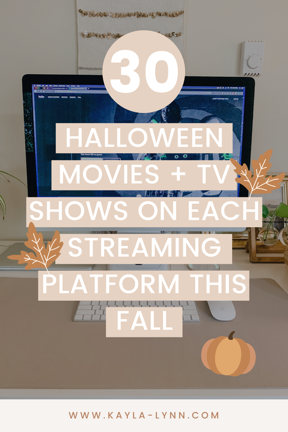 30 Halloween Movies + TV Shows on Each Streaming Platform This Fall Pinterest Image