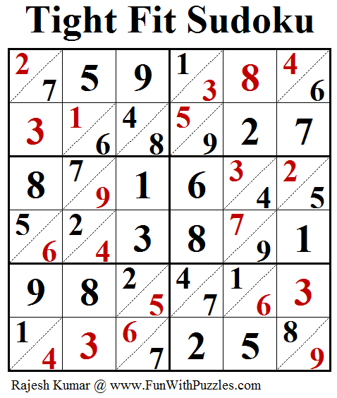 Tight Fit Sudoku (Daily Sudoku League #174) Answer