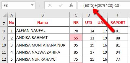 nilai Error #REF! pada Excel