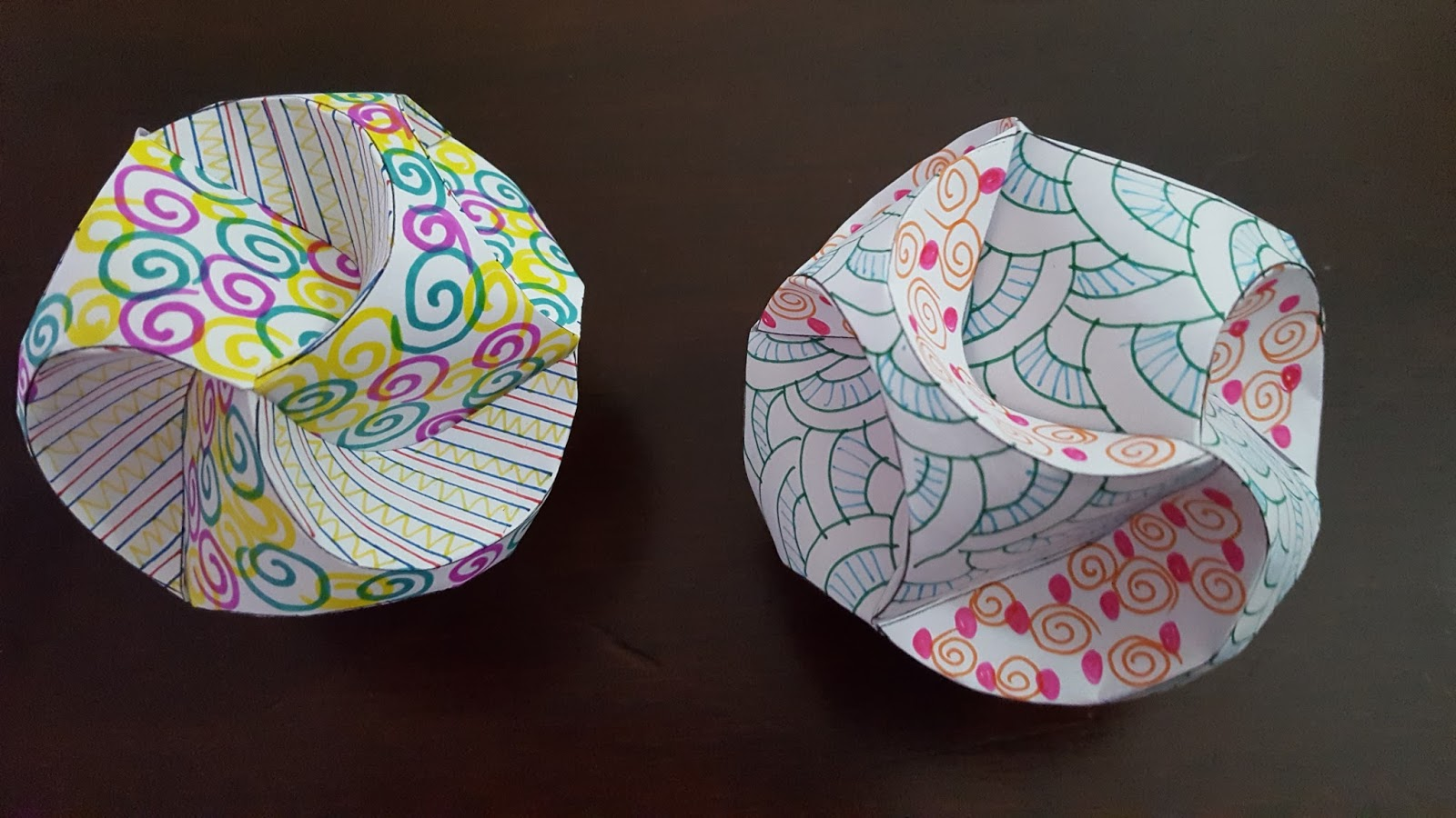 Craft SJ Inspired Triskele Paper Globes