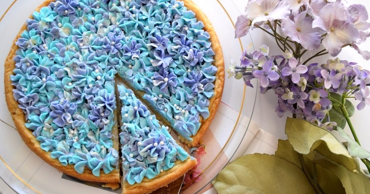 Sugar Swings Serve Some Hydrangea Sugar Cookie Cake