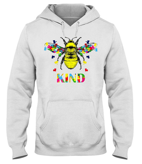 Bee Kind Be Kind Autism Jigsaw Hoodie, Bee Kind Be Kind Autism Jigsaw Shirts