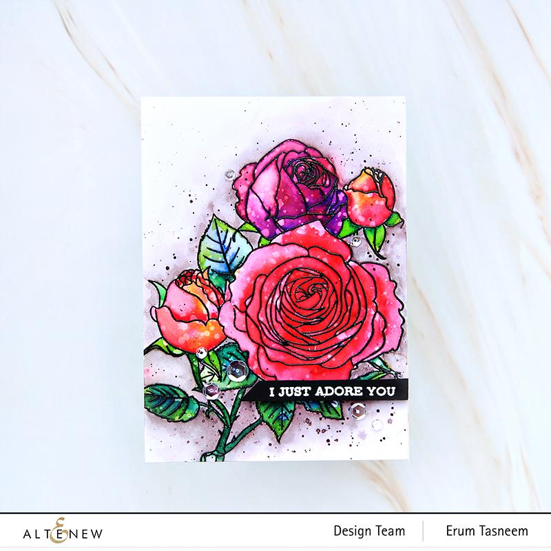 Altenew Fresh Cut Roses Stamp Set   Erum Tasneem   @pr0digy0