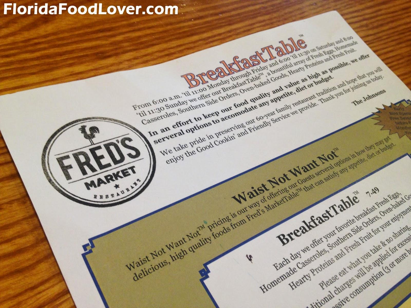 Fred S Market Restaurant Plant City Florida