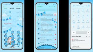Diall pad, SMS, status bar Tema Doraemon OPPO