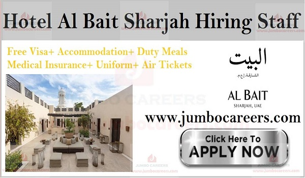 Job Vacancies Hotel Sharjah, Current hotel jobs with salary and benefits,