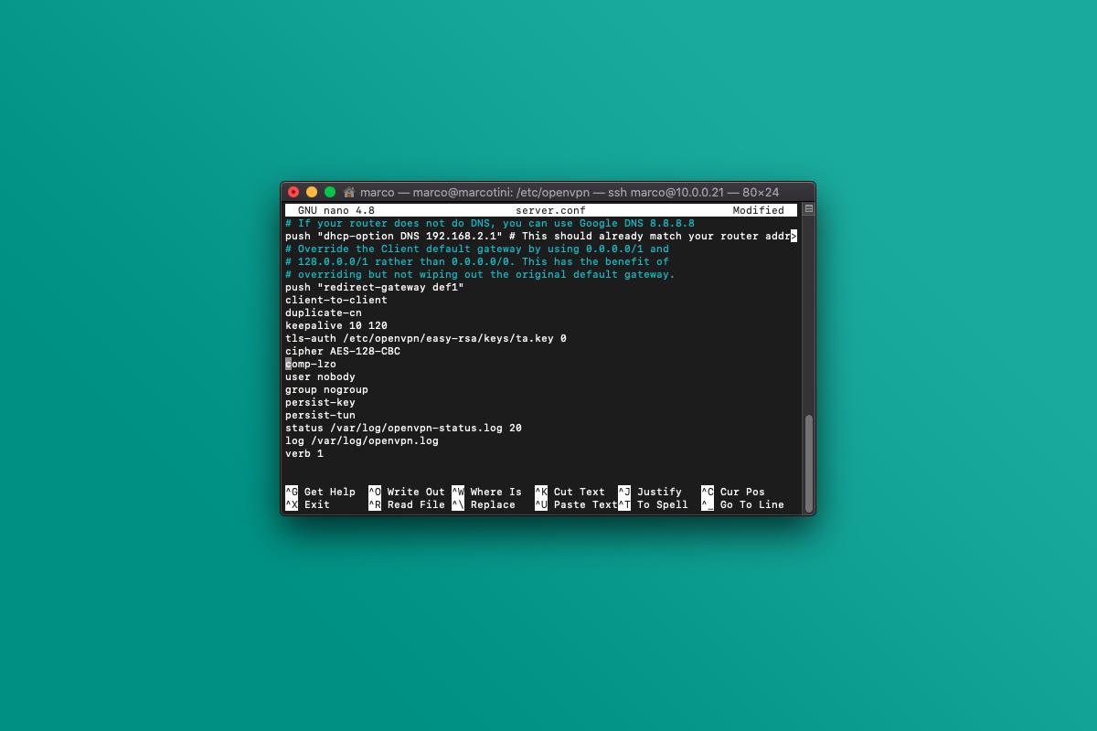 Come disabilitare la compressione in OpenVPN