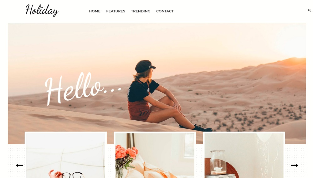 Holiday - Responsive Lifestyle Blogger Template
