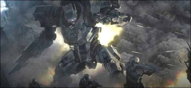 مشهد لعبة فيديو يعرض مثالاً على تمزيق الشاشة.