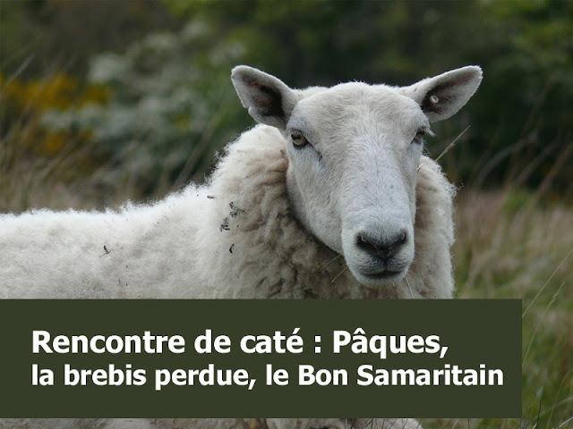 Caté  Pâques avec le bon samaritain et la brebis perdue