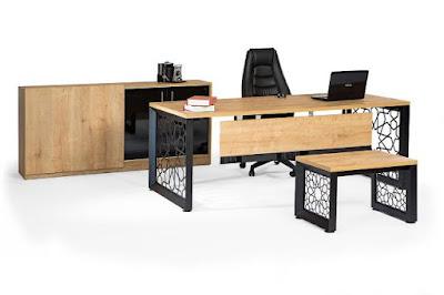ofis masası,makam masası,makam takımı,yönetici masası,metal ayaklı masa,