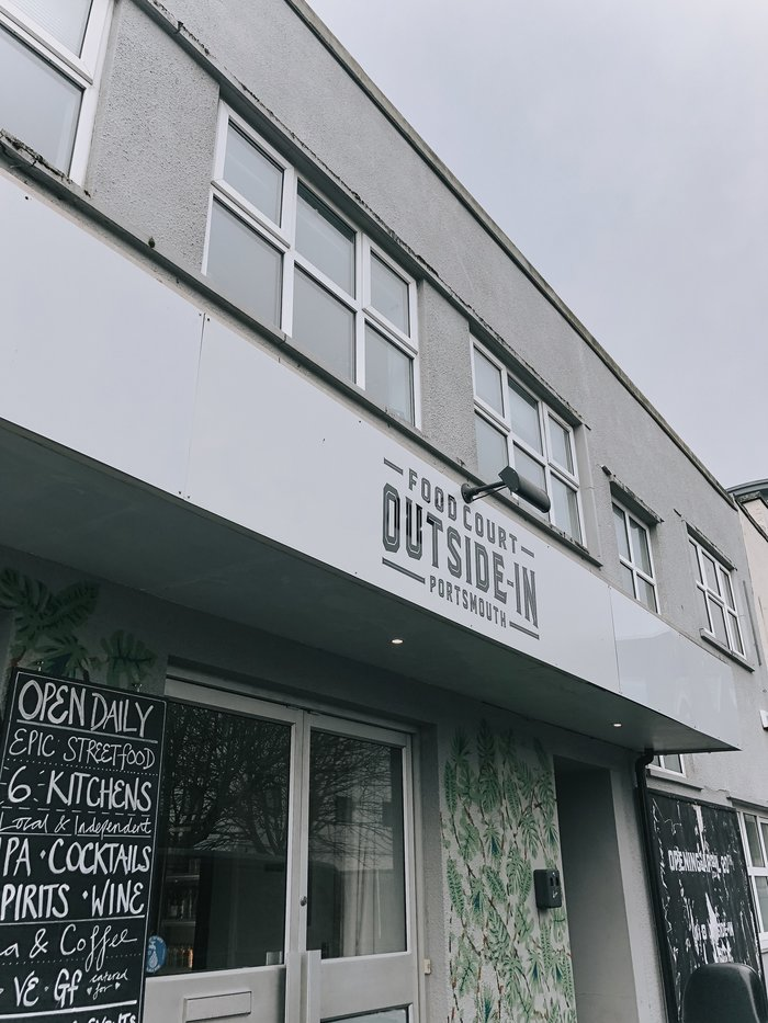 A review of Outside In, the street-food warehouse in Portsmouth.