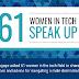 61 Women In Tech Speak Up #infographic