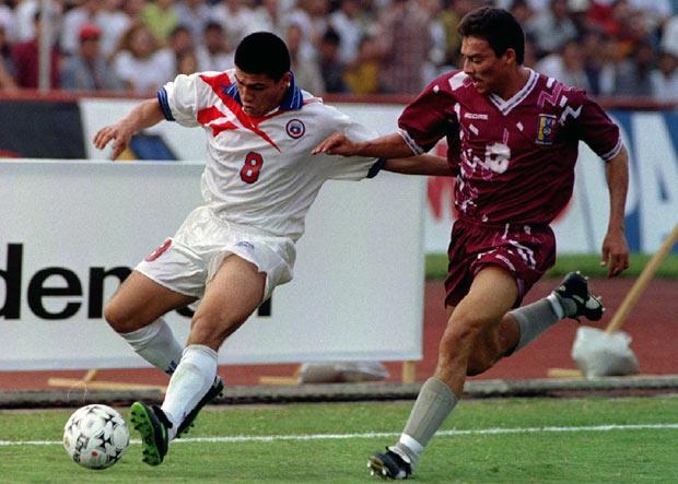 Venezuela y Chile en Clasificatorias a Francia 1998, 2 de junio de 1996