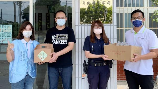 端午連假彰警防疫不停歇 成美文化園送700顆肉粽慰勞