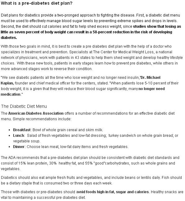 Pre diabetes diet - Diet plans for diabetics Enter your blog name here - diabetic daily menu