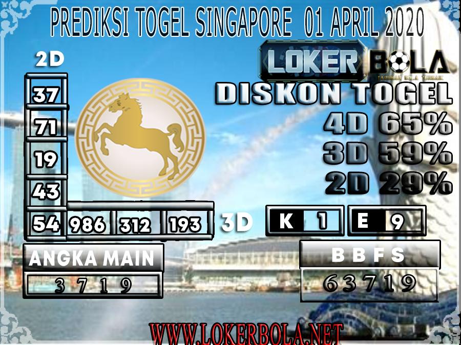 PREDIKSI TOGEL SINGAPORE LOKER BOLA 01 APRIL 2020