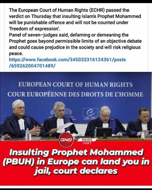 ECHR ruling on insulting prophet