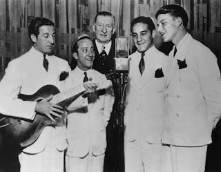 Frank Sinatra (right) began his career with The Hoboken Four