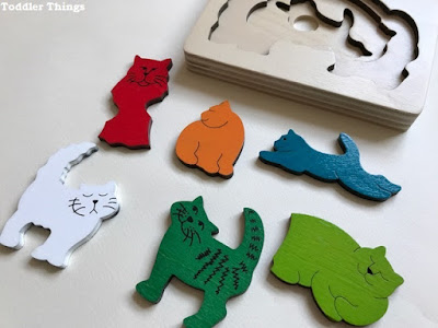 Review - Layered wooden Cats Puzzle from Hape George Luck