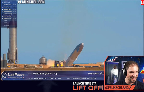 SN9 leans into ground crash landing (Source: @Felixschlang and @LabPadre)