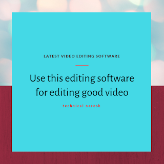 Editing software, video editing software