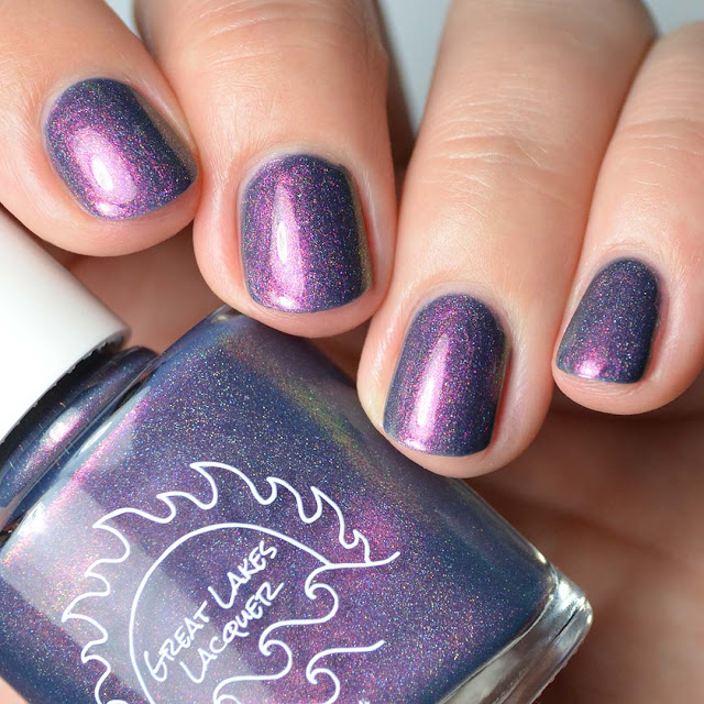 dark blue shimmer nail polish