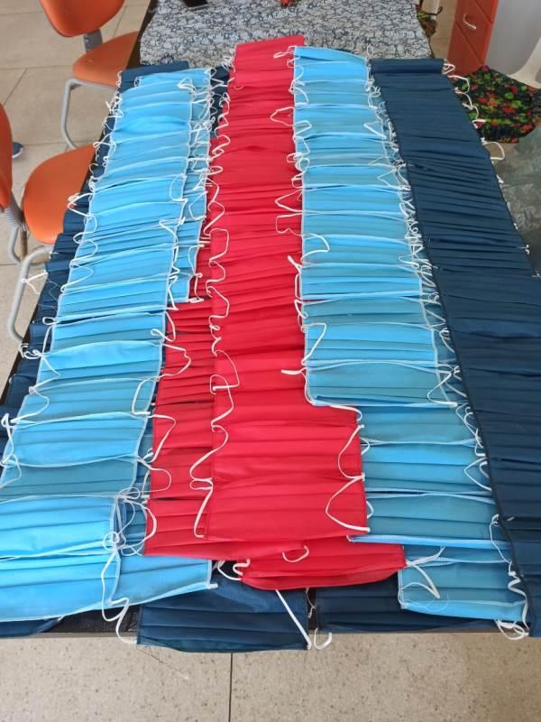 Com auxílio de voluntários, FSS da Ilha confeccionou e disponibilizou cerca de 80 mil máscaras à população
