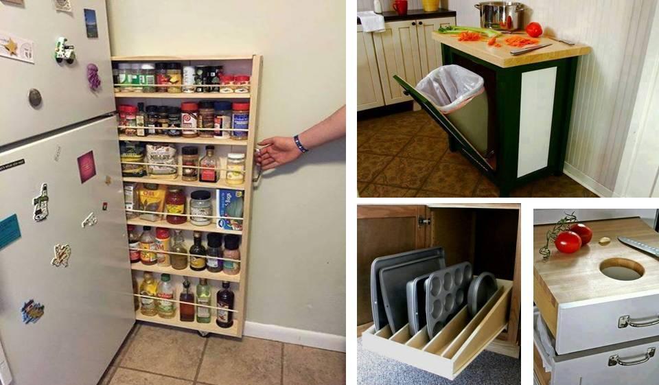 1 wonderful space saving kitchen storage ideas
