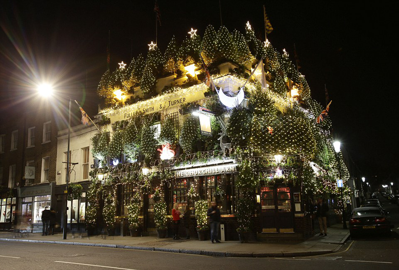the churchill's arms manger a Londres plaisir papilles pub anglais british