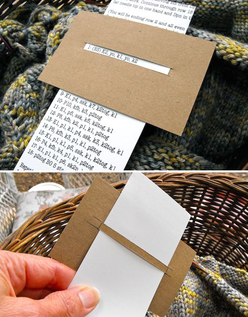 Hint for knitting a repeated pattern