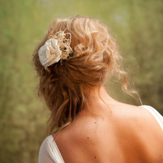 Side Swept Wedding Hair: The Local Louisville KY Wedding