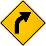 right curve ahead in spanish