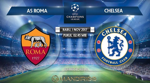 Berita Terhangat Prediksi Bola : As Roma Vs Chelsea , Rabu 01 November 2017 Pukul 02.45 Wib