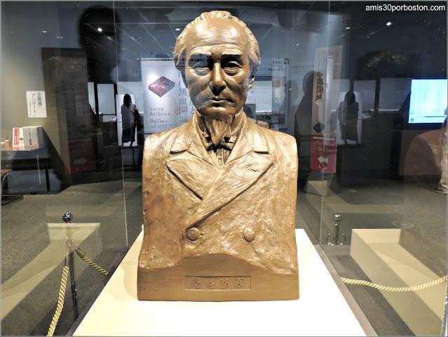 Busto de Katsu Kaishu Obra del Escultor Hakuun Motoyama