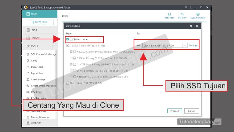 Tutorialengkap 4 Cara Migrasi clone Hardisk ke SSD tanpa Install Ulang