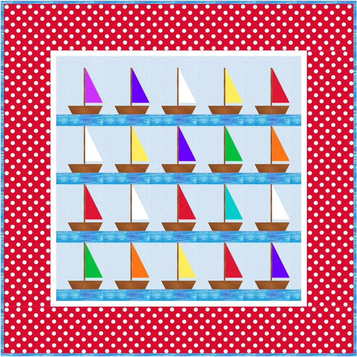 Northern Deb Quilts Free Little Boys Sailboat Pattern