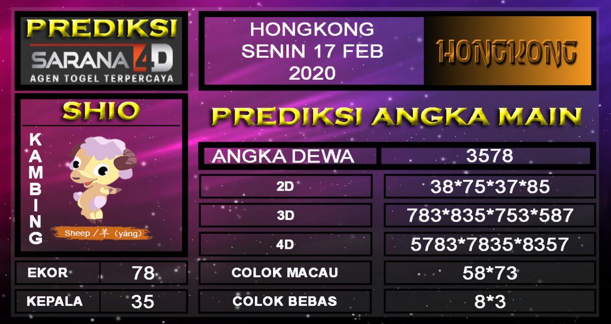 Prediksi Togel Hongkong 17 Februari 2020 - Prediksi Angka Main