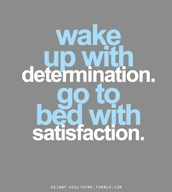 student wake up with determination.