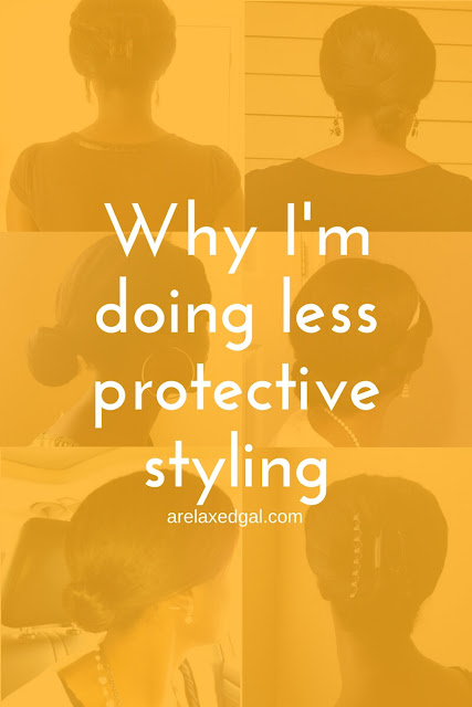 I've decided to do less short-term protective styling. See how I protect my relaxed ends when wearing my hair down. | arelaxedgal.com