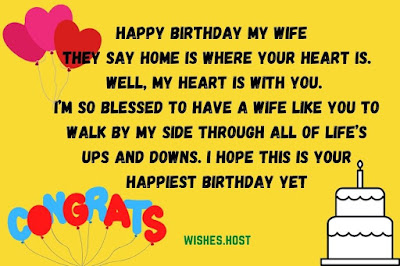 sincere birthday wishes for wife
