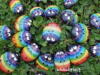 Bomboniere arcobaleno coccinelle