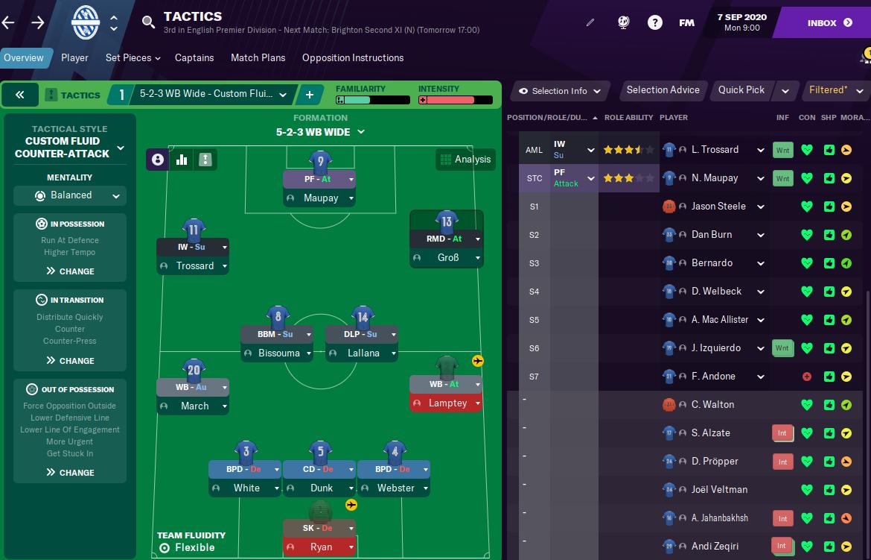 FM21 Brighton tactics