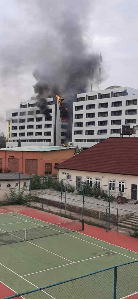 Breaking: Nigeria Accountant General's office on fire
