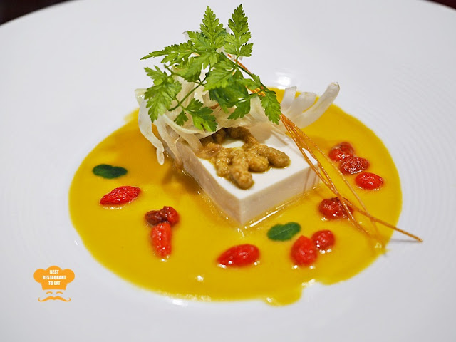 Chilled Soft Tofu - Vegetarian Fine Dining Dishes
