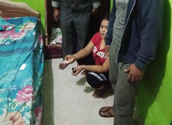 Erna Dewi alias Liza warga Tanjung Alam yang diringkus polisi.