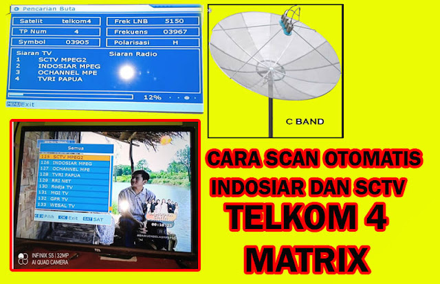 Cara Scan Siaran Indosiar SCTV Telkom 4 di Matrix Burger, Garuda, Apple, Bakwan, Sinema, Update 4 Juli 2020