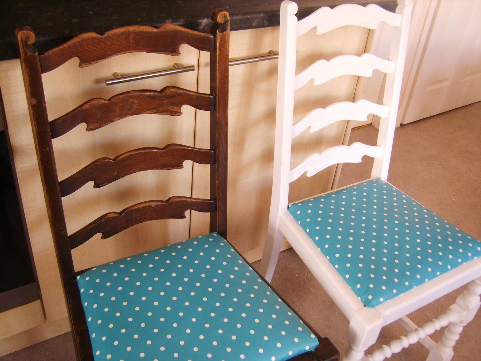 Fabulous My Handcrafted Home Dining Chairs Make Over Beatyapartments Chair Design Images Beatyapartmentscom