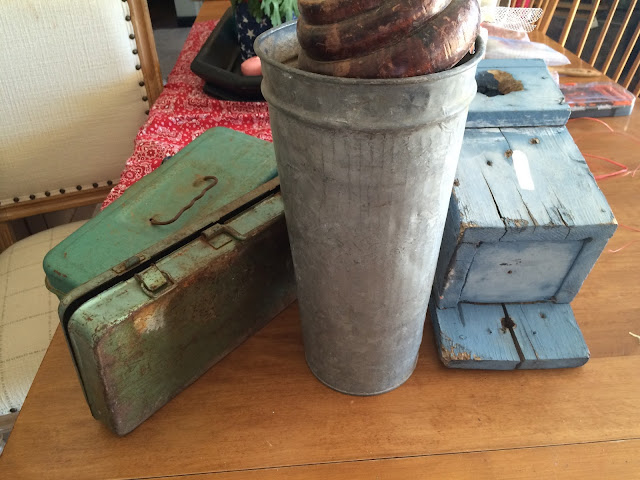 Who doesn't love rusty toolboxes and sap cans?