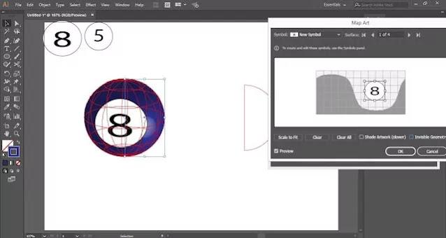 3D Snooker Balls in Adobe Illustrator